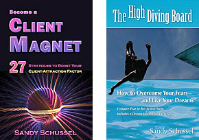 The High Diving Board/BECOME A CLIENT MAGNET book combo